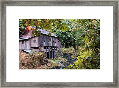 Old Creek Grist Mill In Autumn Framed Print by Athena Mckinzie
