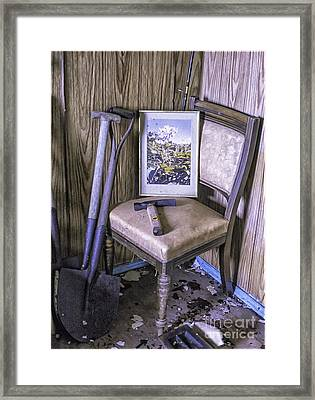 Old Croft No Further Use Framed Print by George Hodlin
