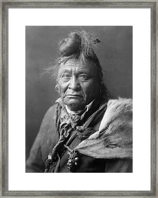 Old Crow Man Circa 1908 Framed Print