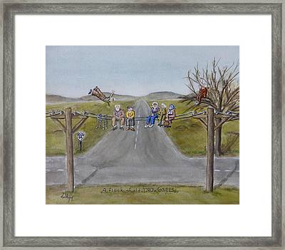 Old Crowknees Fly South Framed Print by Kelly Mills