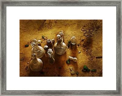 Old Cruets Framed Print by Joel Vieira