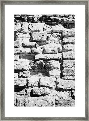Old Crumbling Red Bricks In Building In Kazimierz Krakow Framed Print by Joe Fox