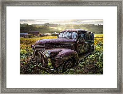 Old Dairy Farm Truck Framed Print