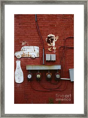 Old Dairy Wall 2 Framed Print