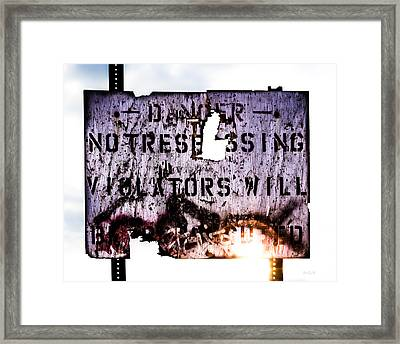 Old Danger Framed Print by Bob Orsillo