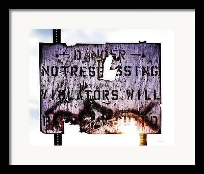No Trespassing Framed Prints