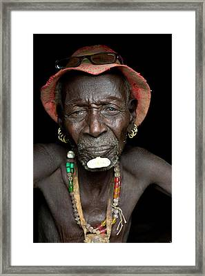 Old Dassenech Tribesman With Cataracts Framed Print