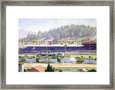 Old Del Mar Race Track Framed Print by Mary Helmreich