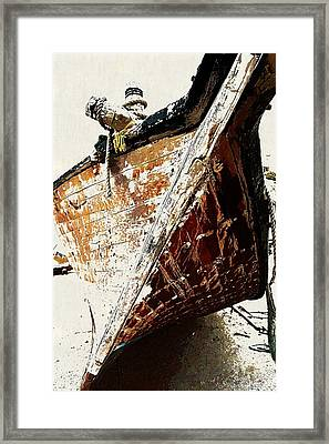 The Old Dhow Framed Print by Peter Waters