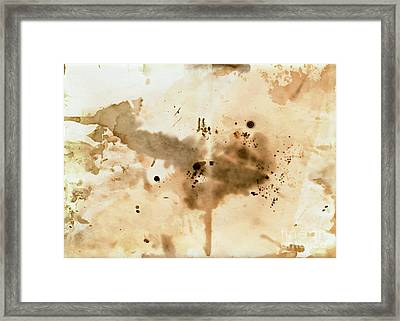 Old Dirty Paper With Blots Framed Print by Michal Boubin