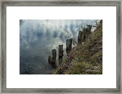 Old Dock Supports Along The Canal Bank - No 1 Framed Print