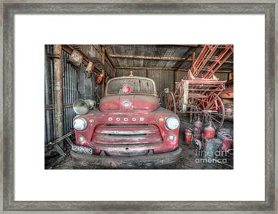 Old Dodge Fire Truck Framed Print by Shannon Rogers