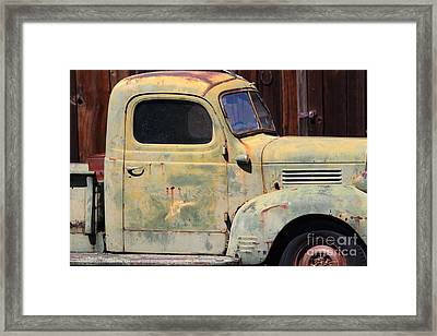 Old Dodge Truck 7d22382 Framed Print by Wingsdomain Art and Photography