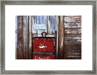 Lucky Old Door 1 Framed Print by James Brunker