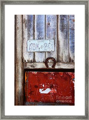 Lucky Old Door 2 Framed Print by James Brunker