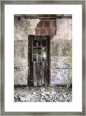 Old Door - Abandoned Building - Tea Framed Print by Gary Heller
