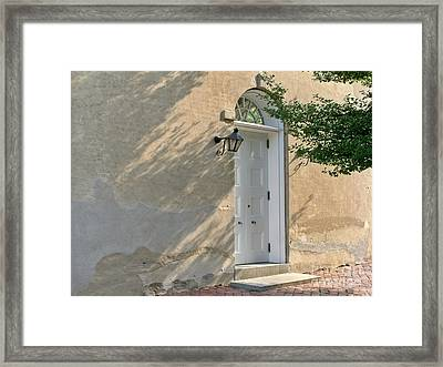 Old Door And Stucco Wall Framed Print by Olivier Le Queinec