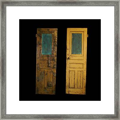 Old Door Framed Print by Christopher Schranck