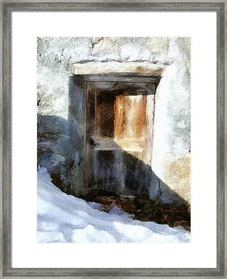 Old Door Framed Print