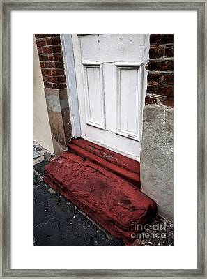 Old Door In Charleston Framed Print