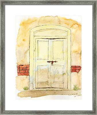 Old Door Framed Print by Keshava Shukla
