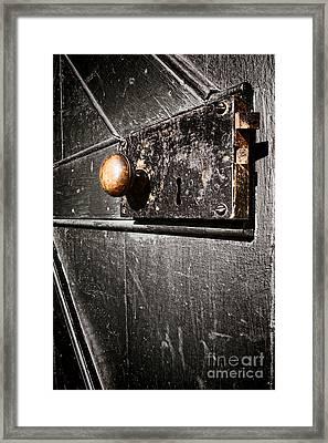 Old Door Lock Framed Print by Olivier Le Queinec