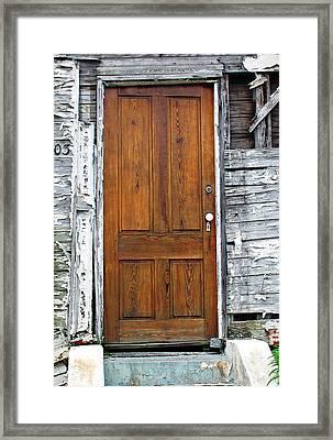 Old Door Framed Print by Sarah-jane Laubscher
