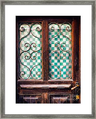 Framed Print featuring the photograph Old Door by Silvia Ganora
