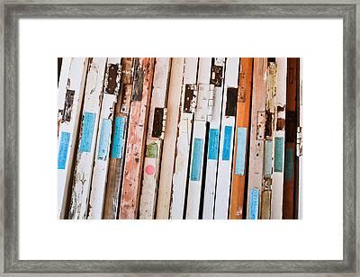 Old Doors Framed Print by Tom Gowanlock