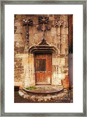 Old Doorway Cahors France Framed Print by Colin and Linda McKie