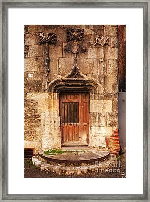 Old Doorway Cahors France Framed Print