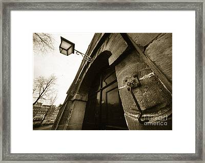 Old Doorway In Amsterdam Framed Print
