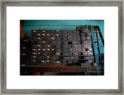 Old Drawers Framed Print by Amy Cicconi