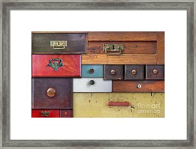 Old Drawers - In Utter Secrecy Framed Print by Michal Boubin