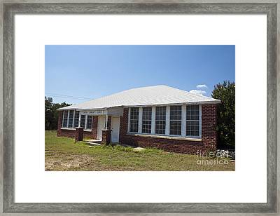 Old Duffau Schoolhouse Framed Print by Jason O Watson