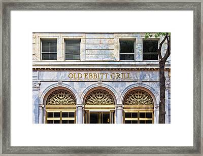 Framed Print featuring the photograph Old Ebbitt Grill by Jemmy Archer