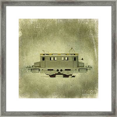 Old Electric Train Framed Print by Bernard Jaubert