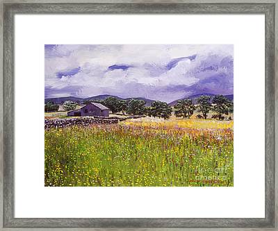 Old English Farm House Framed Print by David Lloyd Glover