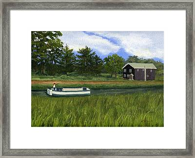 Framed Print featuring the painting Old Erie by Lynne Reichhart