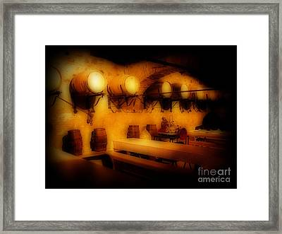 Old European Wine Cellar Framed Print