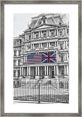 Old Executive Office Bldg - Washington D. C. Framed Print by Daniel Hagerman