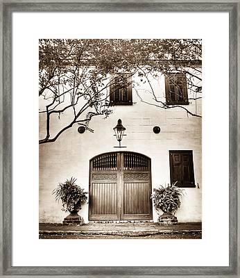 Old Facade Framed Print by Andrew Crispi