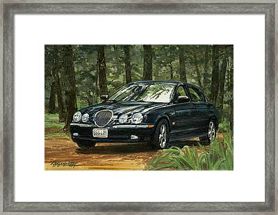 Old Faithful 2000 Jag Framed Print by Don  Langeneckert