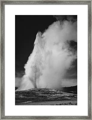 Old Faithful Geyser Yellowstone National Park Wyoming Framed Print
