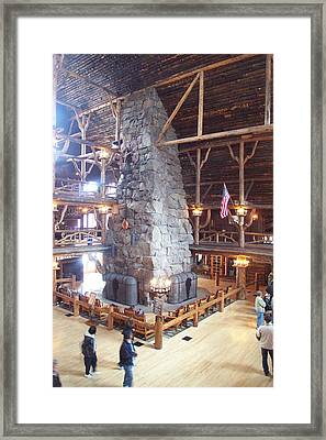 Old Faithful Inn Framed Print