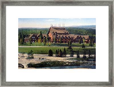 Old Faithful Inn Yellowstone Np 1928 Framed Print
