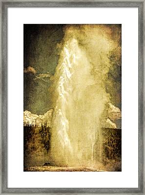 Old Faithful Memories Framed Print