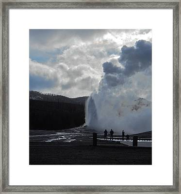 Framed Print featuring the photograph Old Faithful Morning by Michele Myers