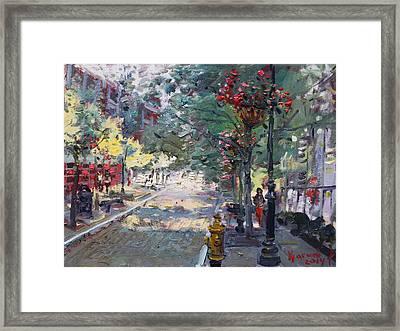 Old Falls Street Framed Print by Ylli Haruni