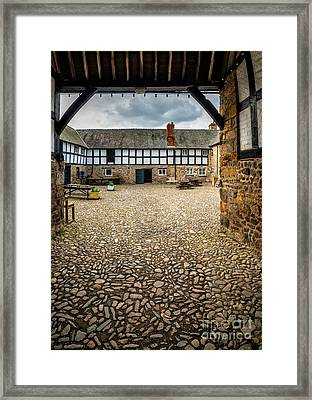 Old Farm Framed Print by Adrian Evans